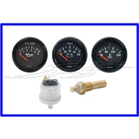 GUAGE SET TRIPLE INCLUDING VOLTS AND MATCHED TEMP AND OIL SENDER VDO
