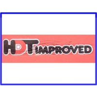 DECAL HDT VC VH HDT IMPROVED GLASS DECAL RED & BLACK