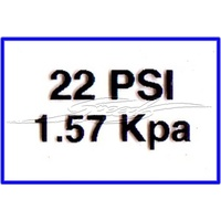 22 PSI Type Pressure Decal