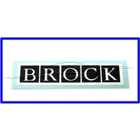 Brock World Decal Small