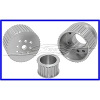 Gilmer Drive Pulley Kit (Belt Sold Separately) Suit Ford Windsor & Cleveland (3 & 4 Bolt Pattern)