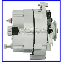 ALTERNATOR CHROME 100 AMP SUITS HOLDEN AND CHEV R = WARNING LIGHT CAN BE USED AS SINGLE WIRE ALTERNATOR