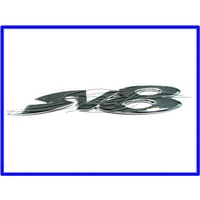 BADGE 'SV8' CHROME BOOT LID VY SV8 COMMO