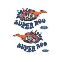 'SUPER ROO' FENDER DECAL (LARGE) XW GT (