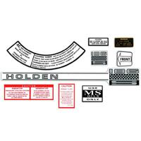 """186S"" ENGINE DECAL KIT HR"