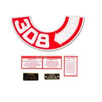308' ENGINE DECAL KIT HT HG