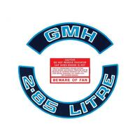 '2.85 LITRE' ENGINE DECAL KIT (BLUE) VB-