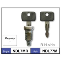 DOOR BARREL AND KEYS SB BARINA RH 04/94 TO 9/99