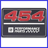 454 rocker cover badge 3inch x 2 inch
