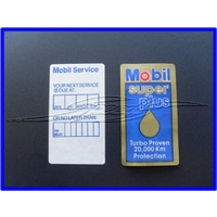 MOBIL SUPER SERVICE / LUBE LABEL