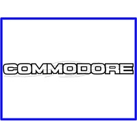 "Decal Boot Lid VK Lm5000 Black ""Commodore"""