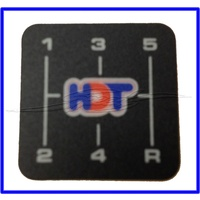 CONSOLE GEAR LEVER DECAL HDT VK VL T5 5 SPEED