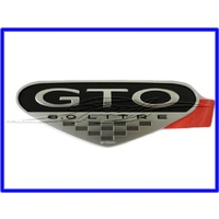 BADGE PONTIAC FENDER 'GTO 6.0 LITRE'