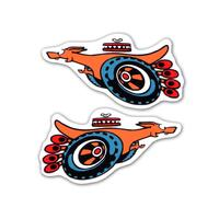 'SUPER ROO' FENDER DECAL ( SMALL ) XY GT