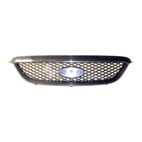 GRILLE EXCLUDING BADGE BA BF FORD FALCON 10/2002 to 08/2006 XT TYPE WITH BLACK FRAME