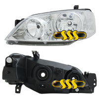 HEADLAMP BA FALCON CHROME RIGHT HAND 2003-2005