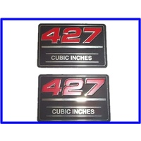 427 rocker cover badge 3inch x 2 inch price per badge