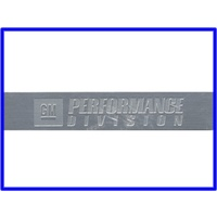 BADGE GM PERFORMANCE PARTS DIVISION 3 1/4 INCH X 5/8 INCH