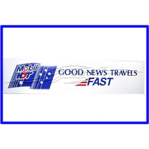 DECAL MOBIL HDT GOOD NEWS TRAVELS FAST