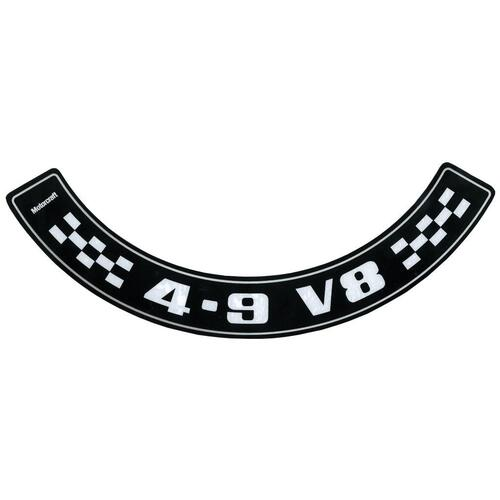 """4.9 V8"" AIR CLEANER DECAL XC ZH"